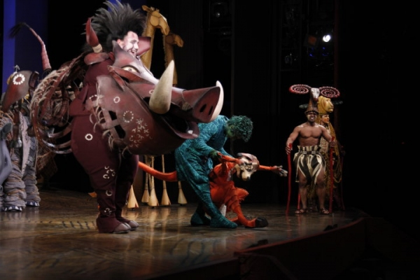Ben Jeffrey as Pumbaa and Fred Berman as Timon