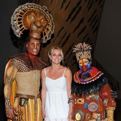 Britney Spears with The Lion King Cast