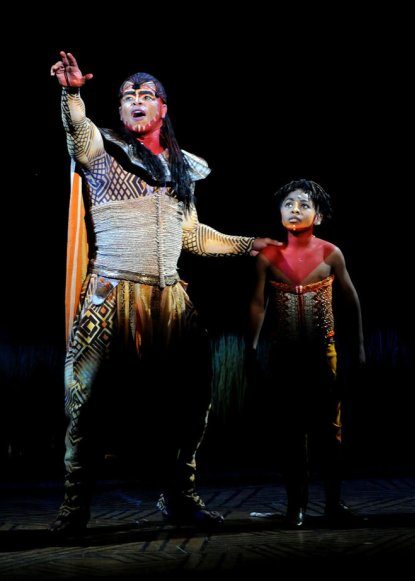 Mufasa, played by Dionne Randolph, and the character's son,