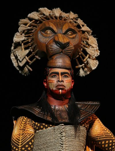 Dionne Randolph in the Lion Mask as Mufasa - Lion King Musical